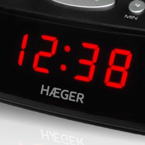 Radio despertador digital con alarma negro Snooze