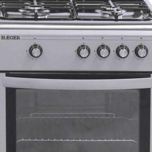 Cocina de gas 60x60 Gris Metalizado e Inox
