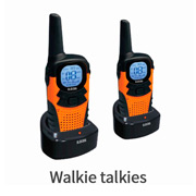 walkie talkies