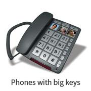 Phones with big keys